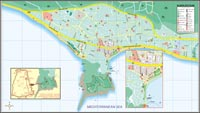 План города Аланья (Турция) / City plan of Alanya