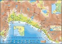 План окрестностей Аланьи. Достопримечательности Аланьи.